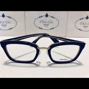 Prada Eyeglasses Opal Brown/Beige VPR09S New 51mm
